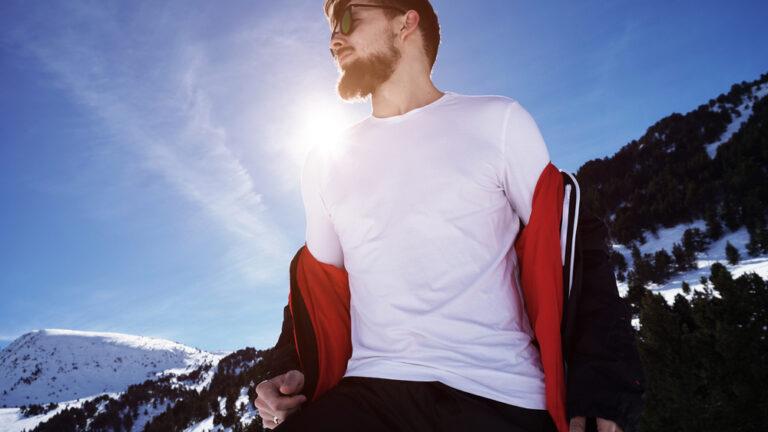 t-shirt en hiver